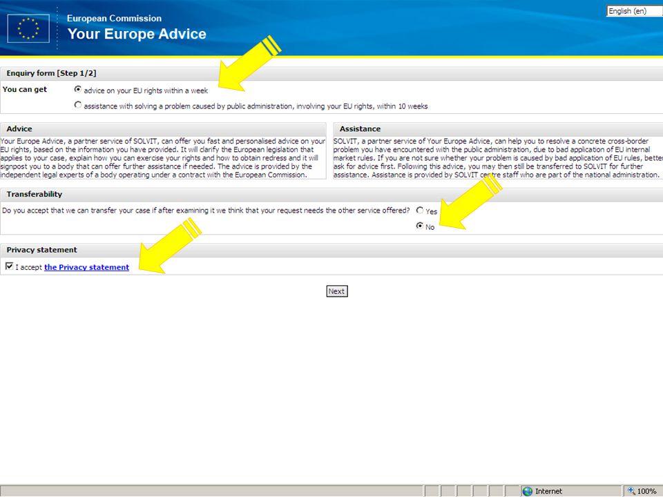 Your Europe Advice (new window)