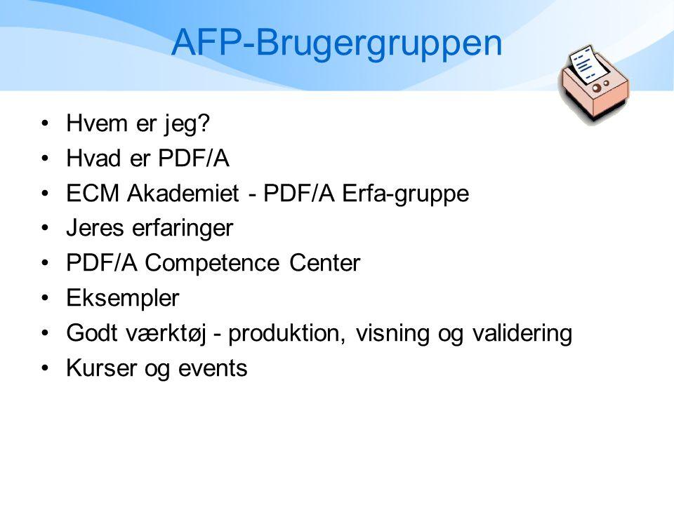 AFP-Brugergruppen •Hvem er jeg.
