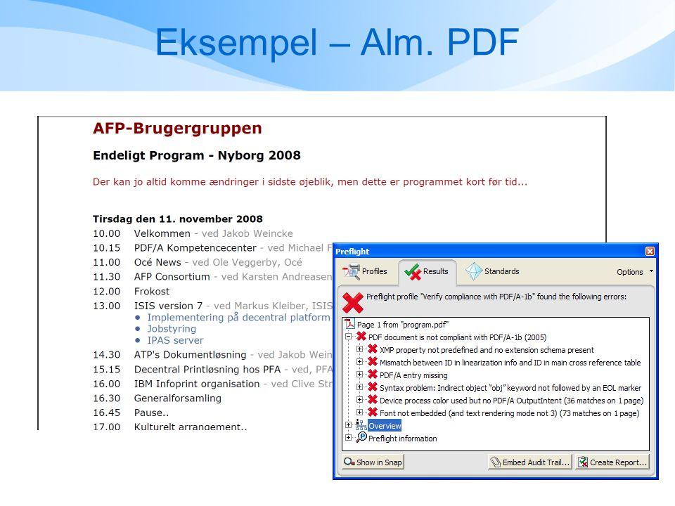 Eksempel – Alm. PDF