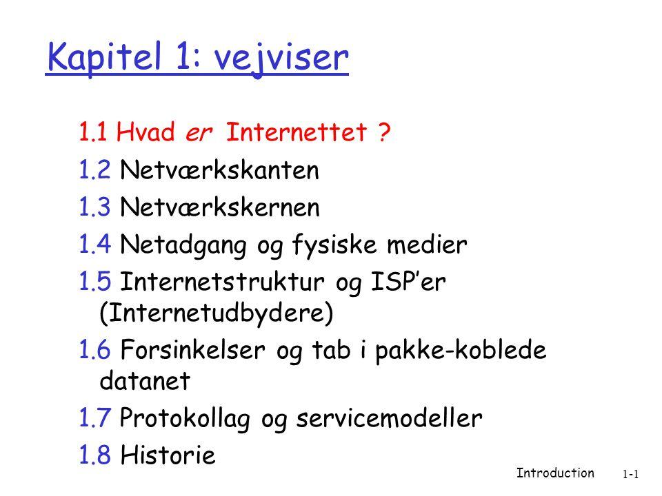 Introduction 1-1 Kapitel 1: vejviser 1.1 Hvad er Internettet .