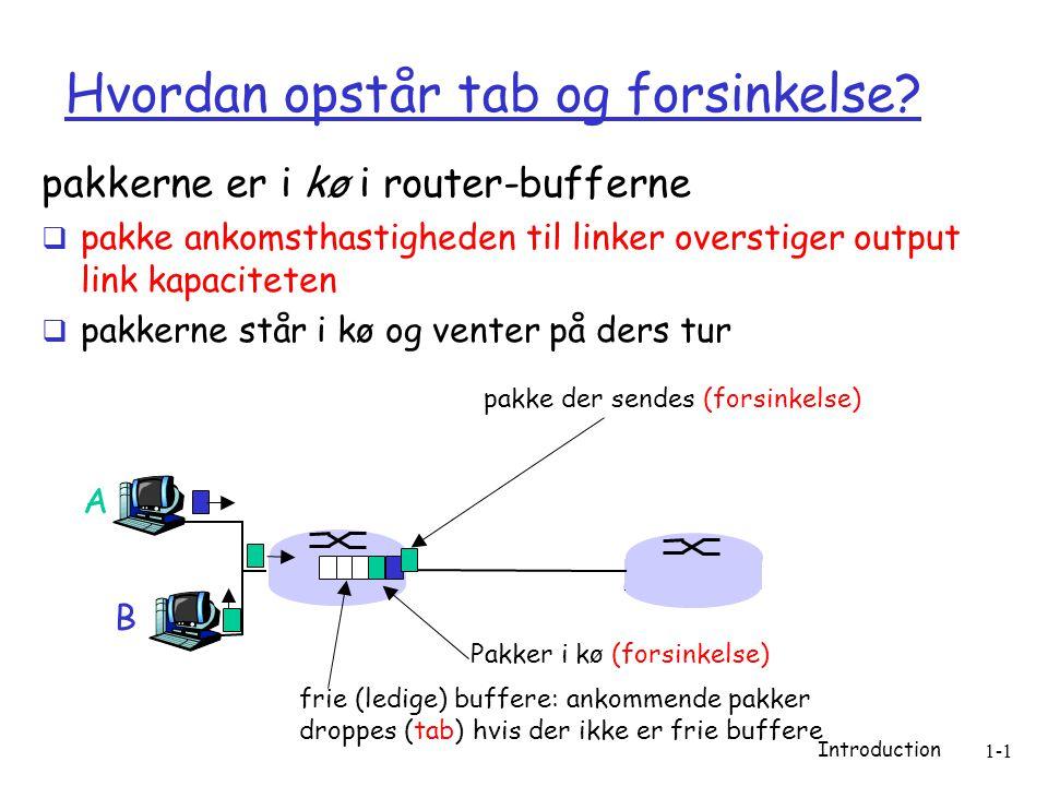 Introduction 1-1 Hvordan opstår tab og forsinkelse.