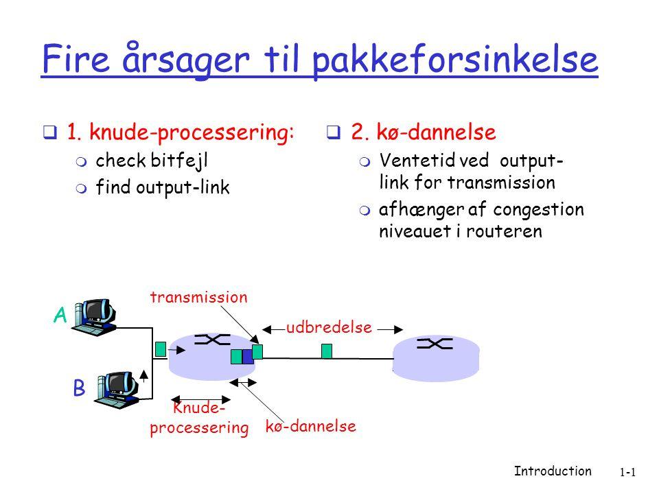Introduction 1-1 Fire årsager til pakkeforsinkelse  1.