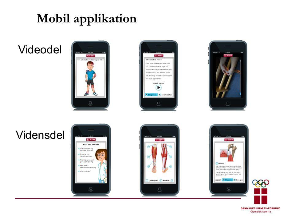 Mobil applikation Videodel Vidensdel