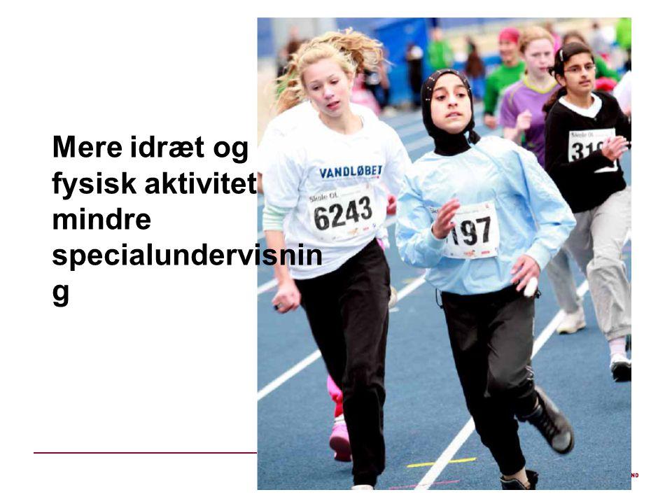 Mere idræt og fysisk aktivitet mindre specialundervisnin g