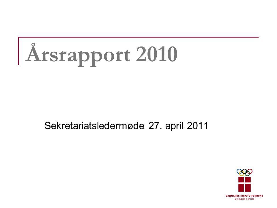 Årsrapport 2010 Sekretariatsledermøde 27. april 2011