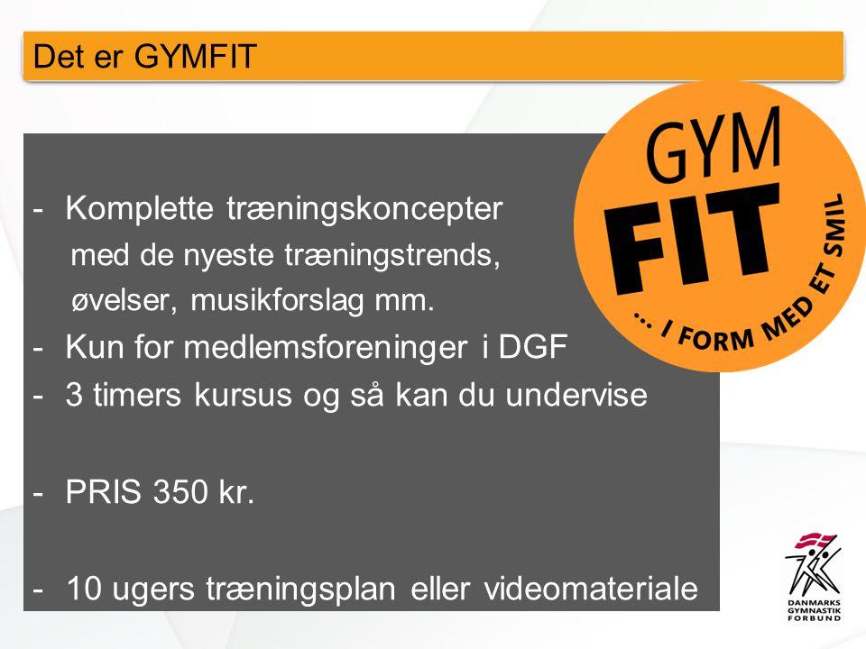 Det er GYMFIT -Komplette træningskoncepter med de nyeste træningstrends, øvelser, musikforslag mm.