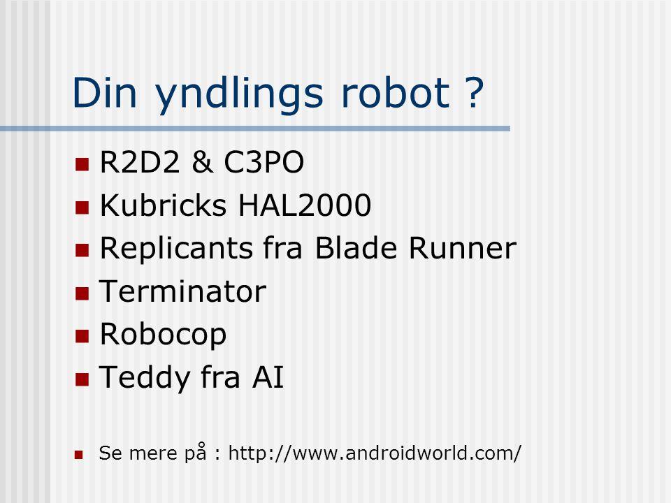Din yndlings robot .