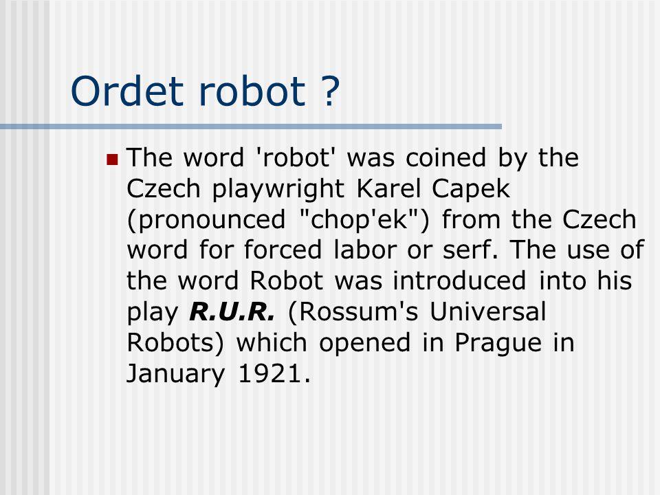 Ordet robot .