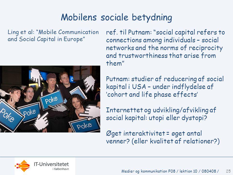 Mobilens sociale betydning ref.