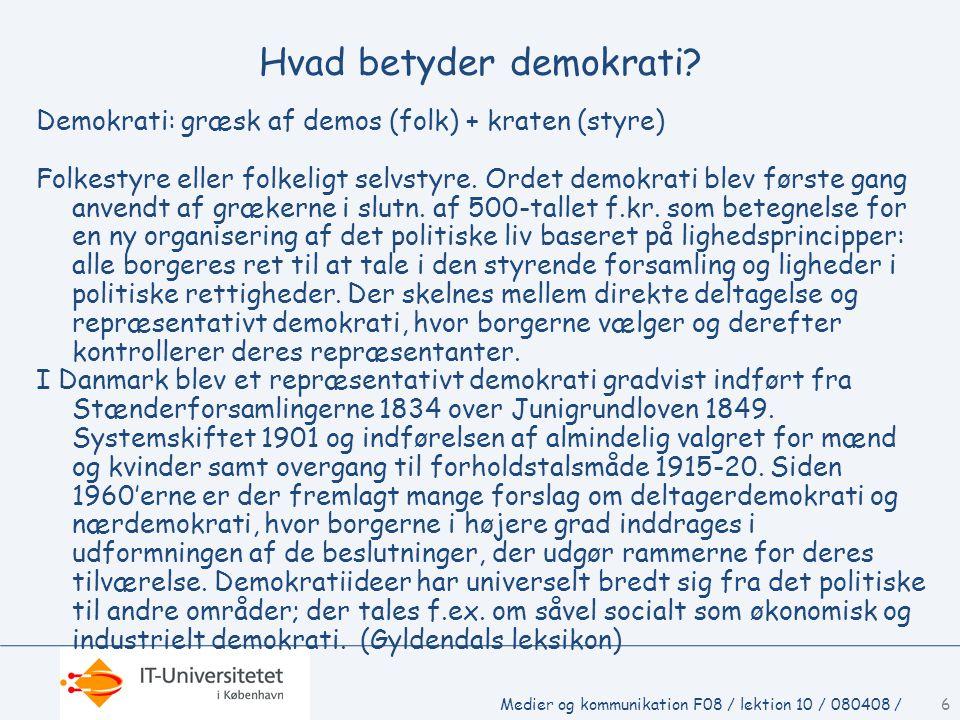6 Hvad betyder demokrati.