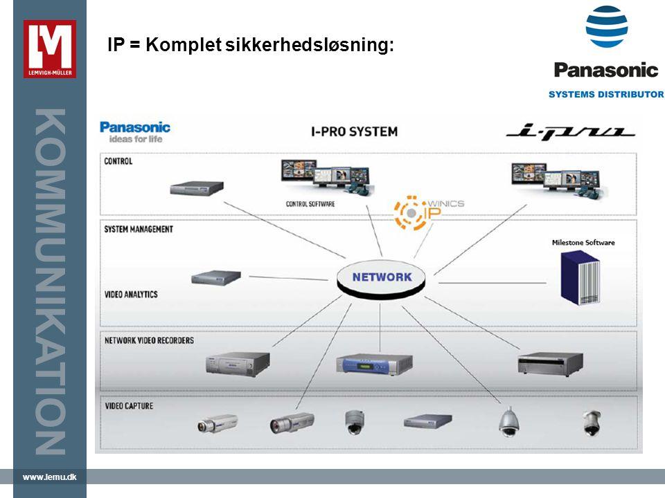 www.lemu.dk KOMMUNIKATION IP = Komplet sikkerhedsløsning: