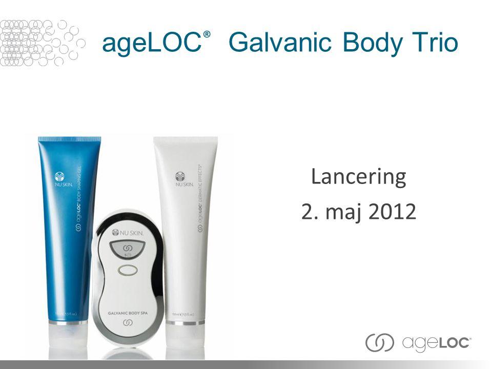 ageLOC ® Galvanic Body Trio Lancering 2. maj 2012