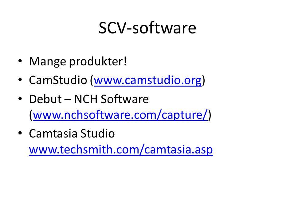 SCV-software • Mange produkter.