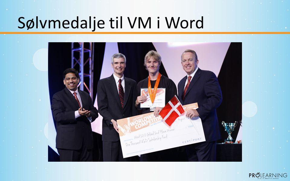 Sølvmedalje til VM i Word