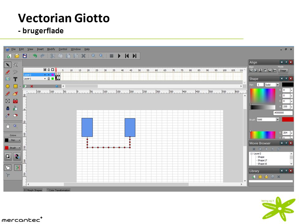 Vectorian Giotto - brugerflade