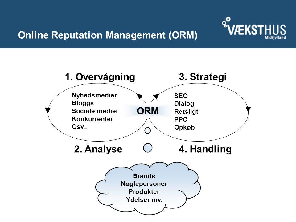 Online Reputation Management (ORM) 4. Handling 1.