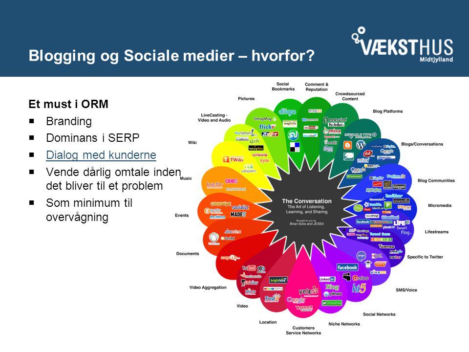 Blogging og Sociale medier – hvorfor.
