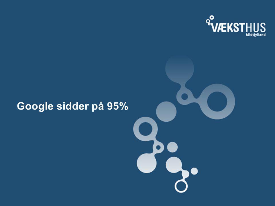 Google sidder på 95%