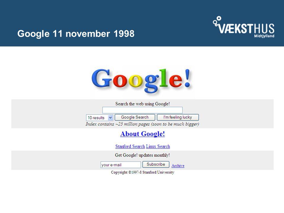 Google 11 november 1998
