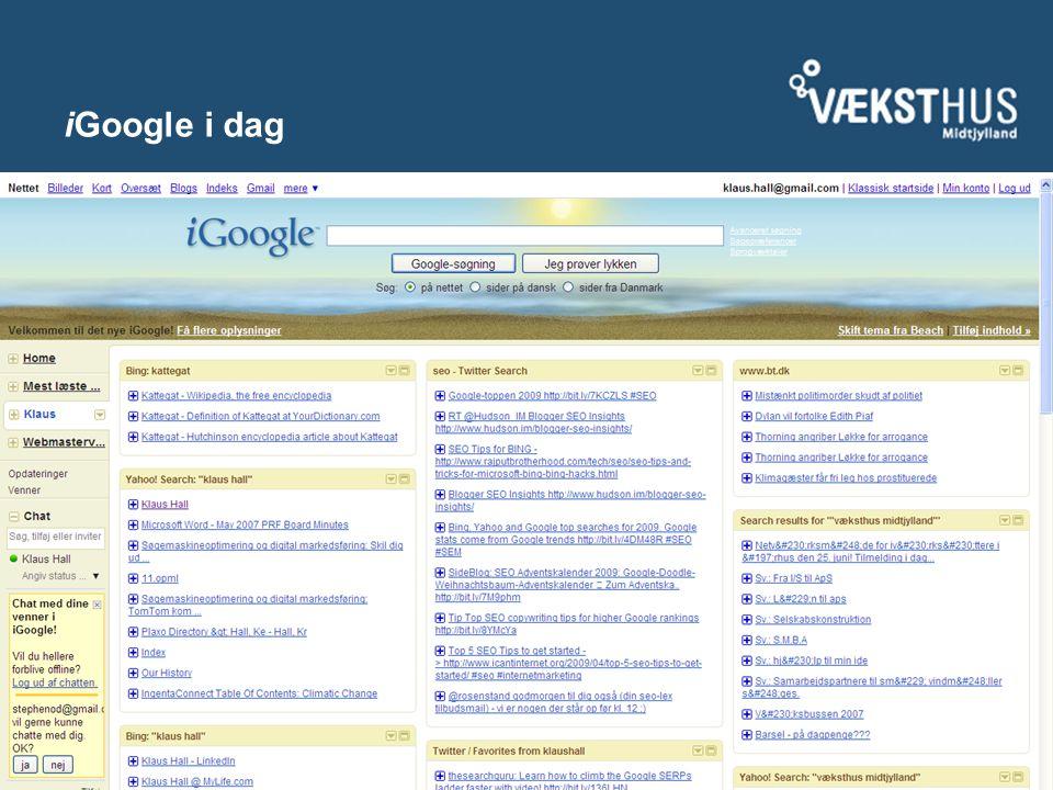 iGoogle i dag