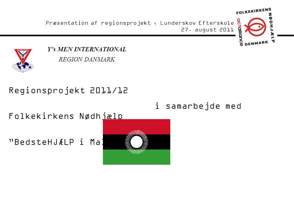 Forside / Intro Y's MEN INTERNATIONAL REGION DANMARK Præsentation af regionsprojekt, Lunderskov Efterskole 27.