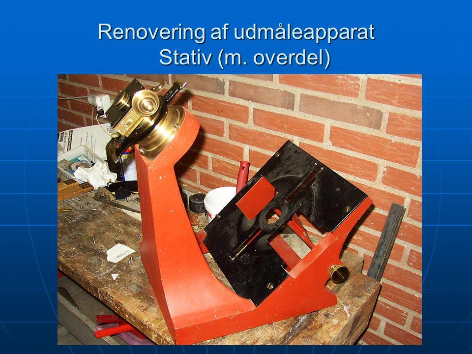 Renovering af udmåleapparat Stativ (m. overdel)