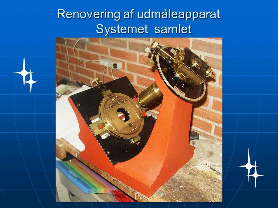 Renovering af udmåleapparat Systemet samlet