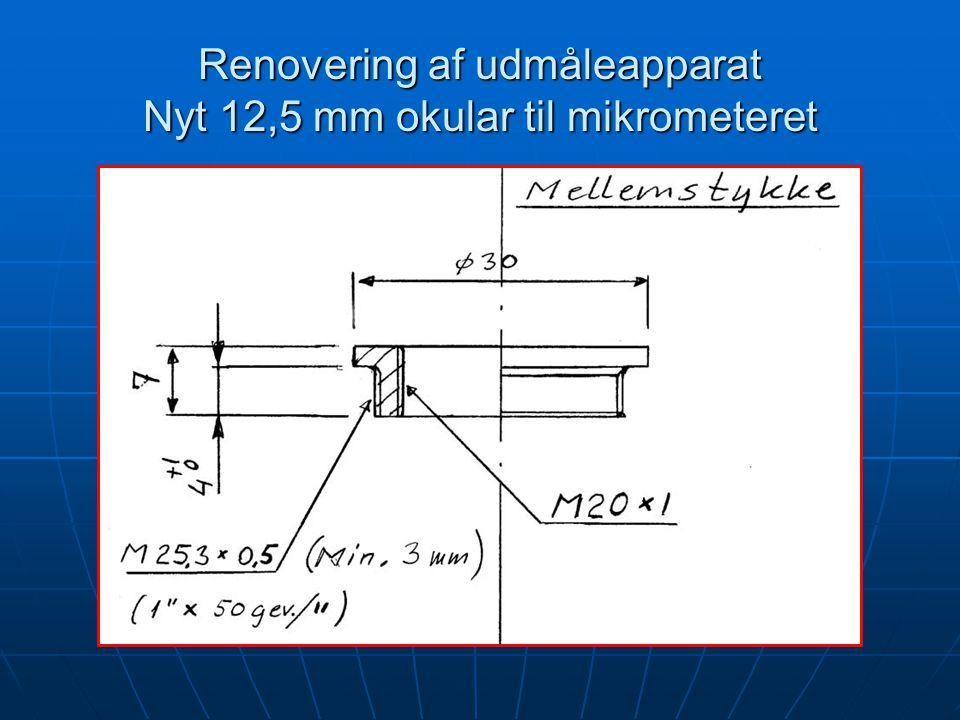Renovering af udmåleapparat Nyt 12,5 mm okular til mikrometeret