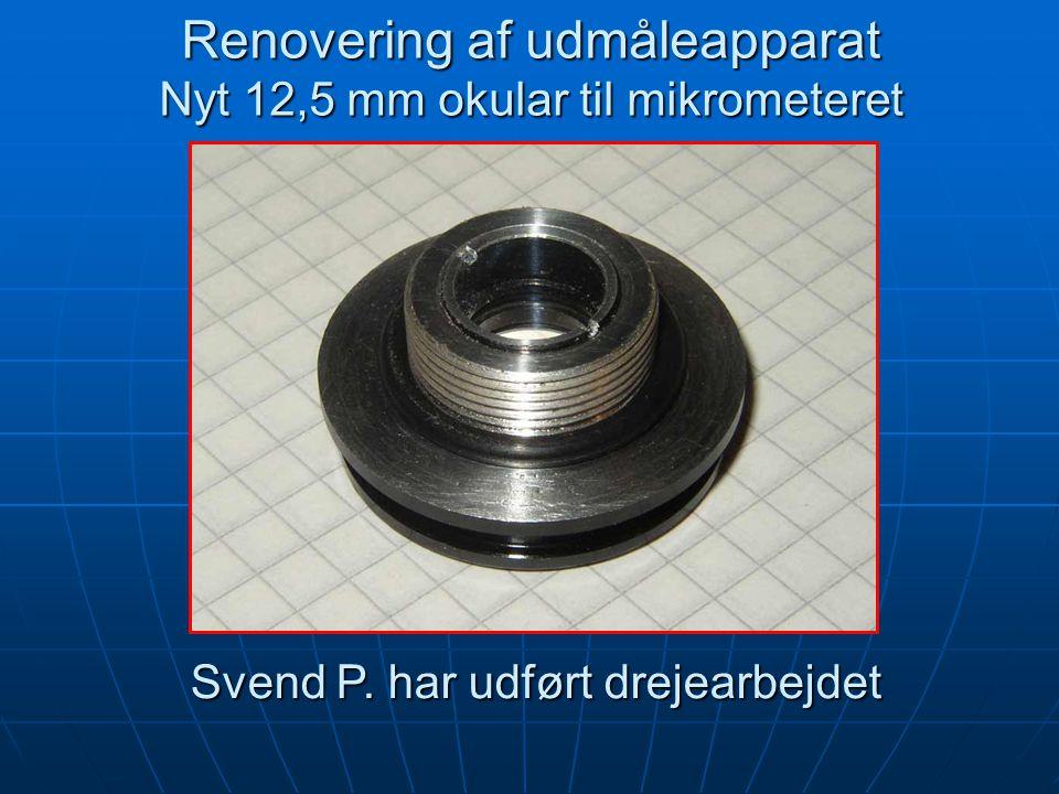 Svend P. har udført drejearbejdet Svend P. har udført drejearbejdet