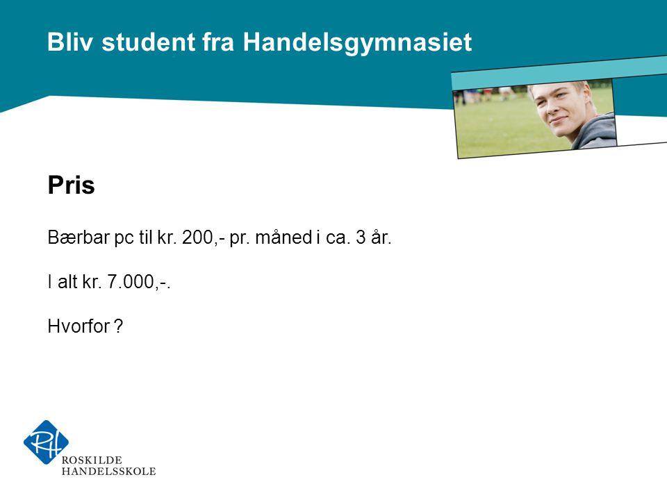 Bliv student fra Handelsgymnasiet Pris Bærbar pc til kr.
