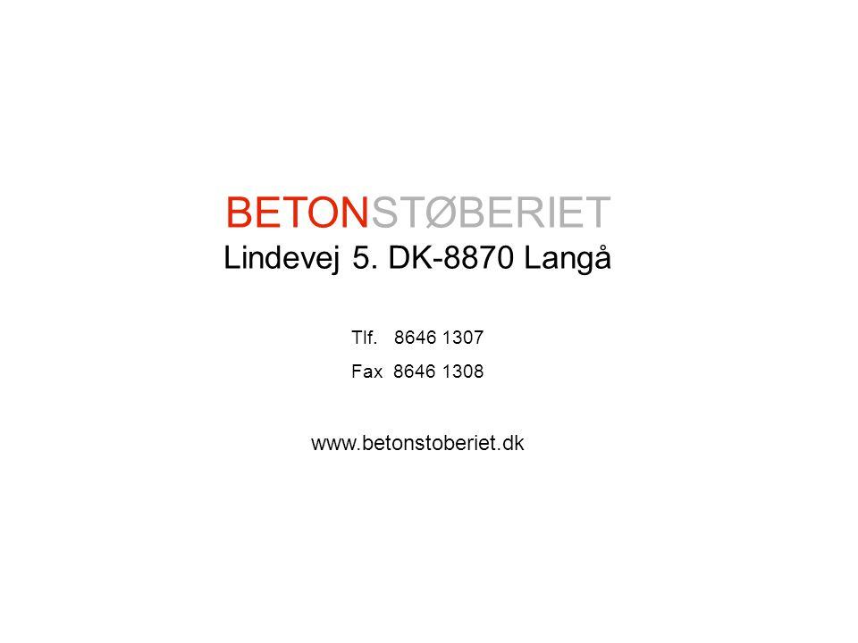 Degner´s Design & Development 2004 KREATIVE BETON LØSNINGER Langaa BETONSTØBERIET