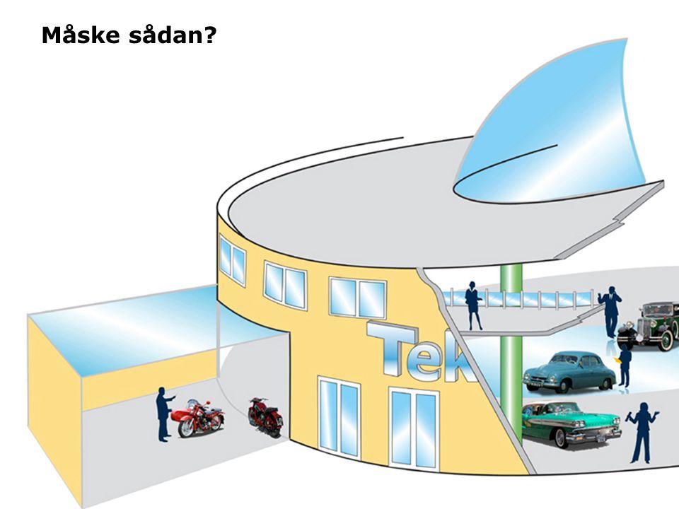 Et par af delelementerne er: •Den runde facon: noget med hjul •De 7 sidepavilloner får bygningen til at ligne et tandhjul fra luften.