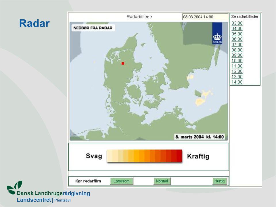 Dansk Landbrugsrådgivning Landscentret | Planteavl Radar