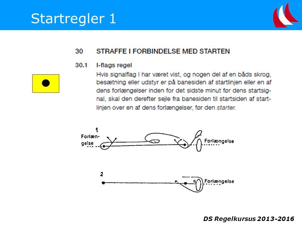DS Regelkursus 2013-2016 Startregler 1