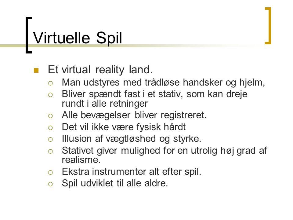 Virtuelle Spil  Et virtual reality land.