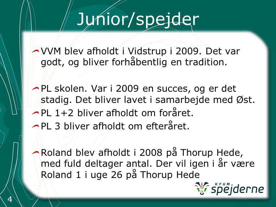 4 Junior/spejder VVM blev afholdt i Vidstrup i 2009.