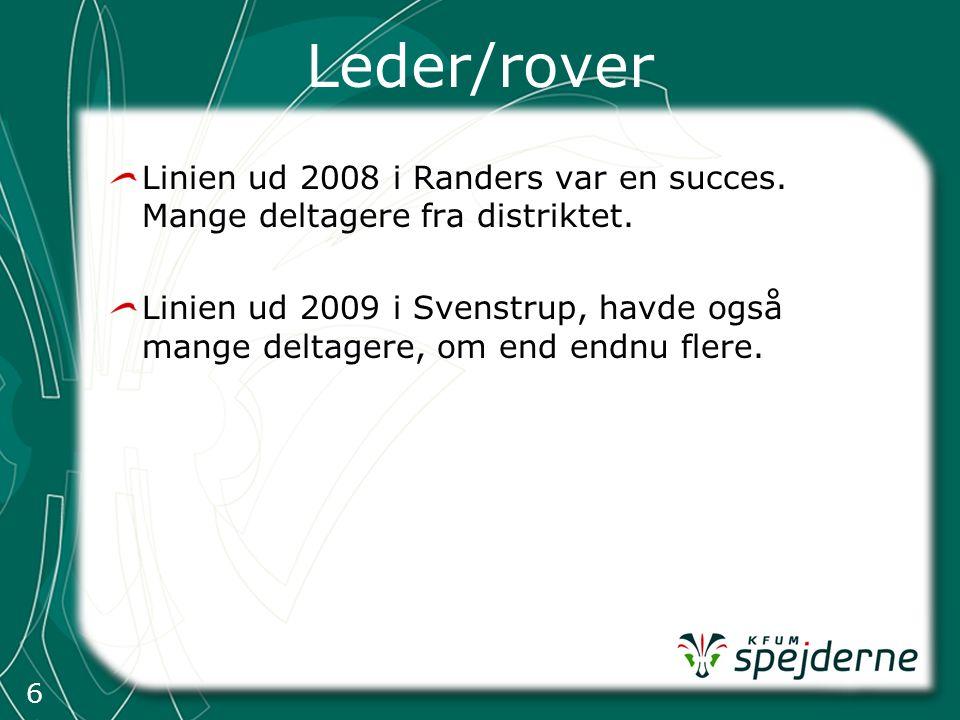 6 Leder/rover Linien ud 2008 i Randers var en succes.