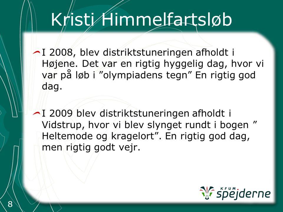 8 Kristi Himmelfartsløb I 2008, blev distriktstuneringen afholdt i Højene.