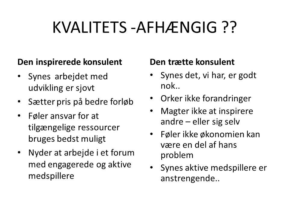 KVALITETS -AFHÆNGIG .