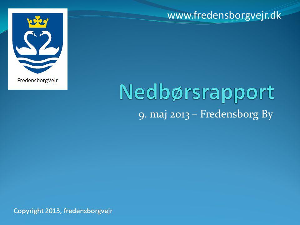 9. maj 2013 – Fredensborg By www.fredensborgvejr.dk Copyright 2013, fredensborgvejr