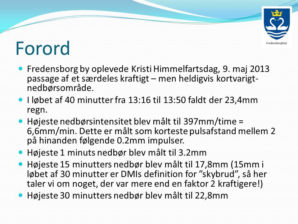 Forord  Fredensborg by oplevede Kristi Himmelfartsdag, 9.