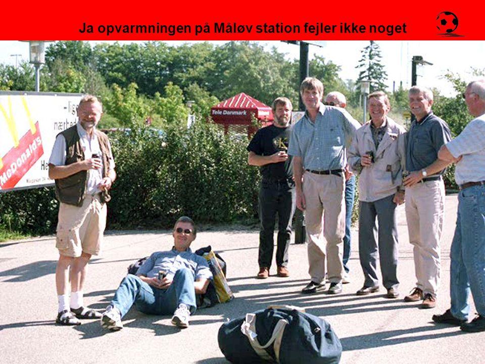 Ja opvarmningen på Måløv station fejler ikke noget