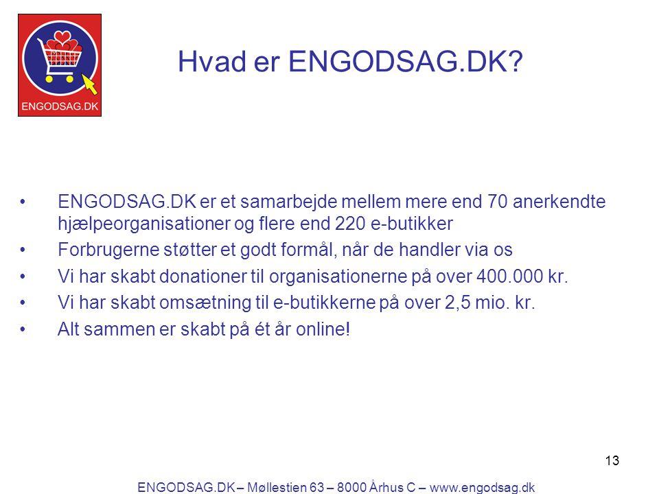 13 Hvad er ENGODSAG.DK.