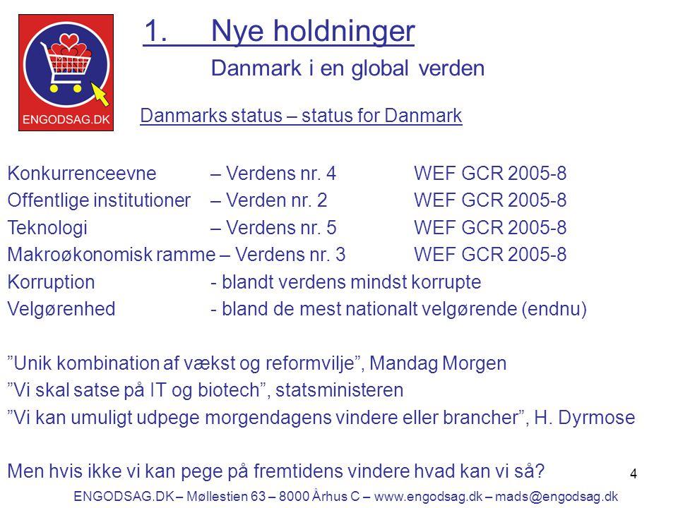 4 1.Nye holdninger Danmark i en global verden Konkurrenceevne– Verdens nr.