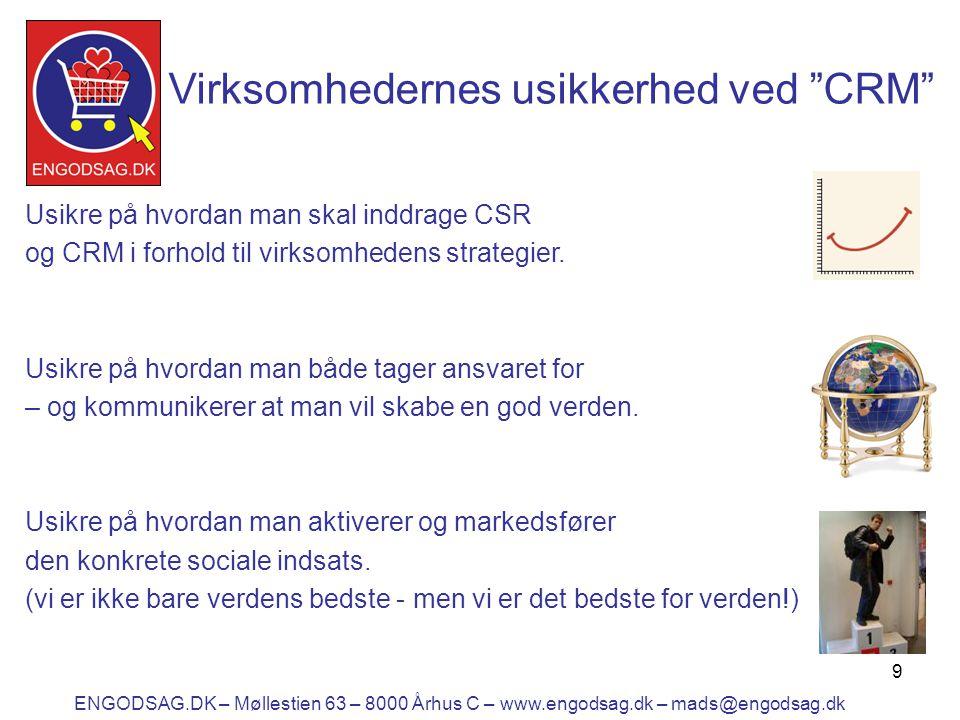 9 Usikre på hvordan man skal inddrage CSR og CRM i forhold til virksomhedens strategier.