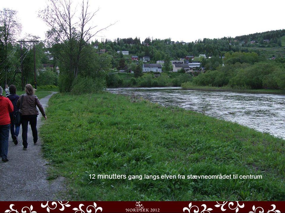 Hovedaden Udsigt fra Torvet Kirken ude og inde 12 minutters gang langs elven fra stævneområdet til centrum