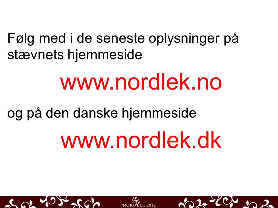 Hovedaden Udsigt fra Torvet Kirken ude og inde Følg med i de seneste oplysninger på stævnets hjemmeside www.nordlek.no og på den danske hjemmeside www.nordlek.dk