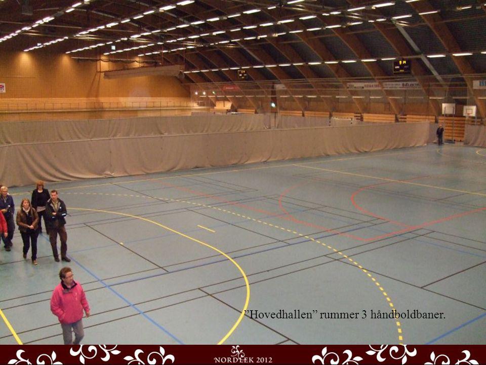 Hovedhallen rummer 3 håndboldbaner.