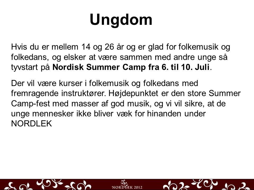 Hvis du er mellem 14 og 26 år og er glad for folkemusik og folkedans, og elsker at være sammen med andre unge så tyvstart på Nordisk Summer Camp fra 6.