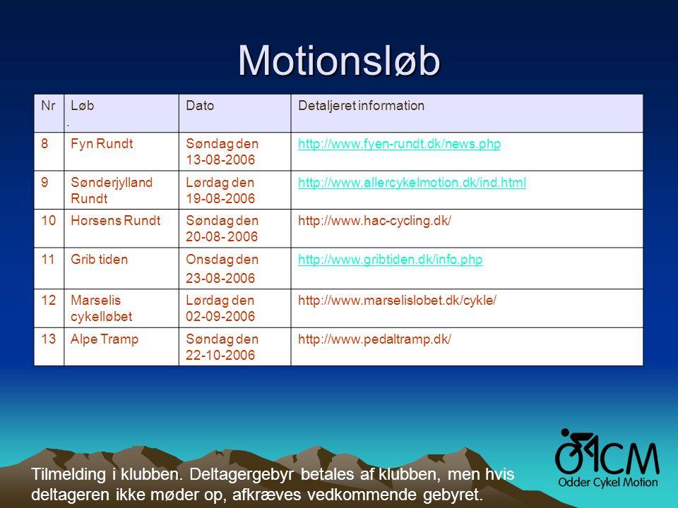 Motionsløb Nr.